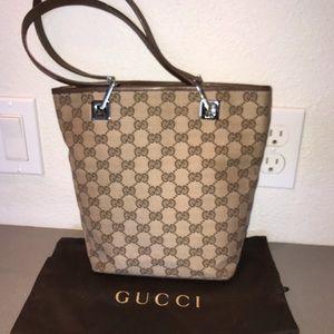 Authentic gucci mini shopper tote purse bag